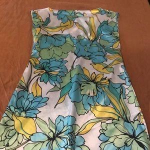 Zara Spring Silk Floral Dress